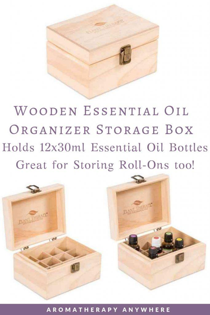 Plant Therapy Wooden Essential Oil Storage Box