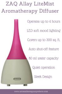 ZAQ Allay LiteMist Essential Oil Diffuser Review