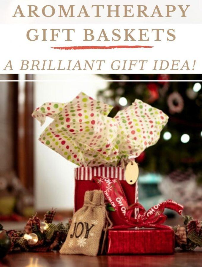 Christmas gifts in a bag with wrapping
