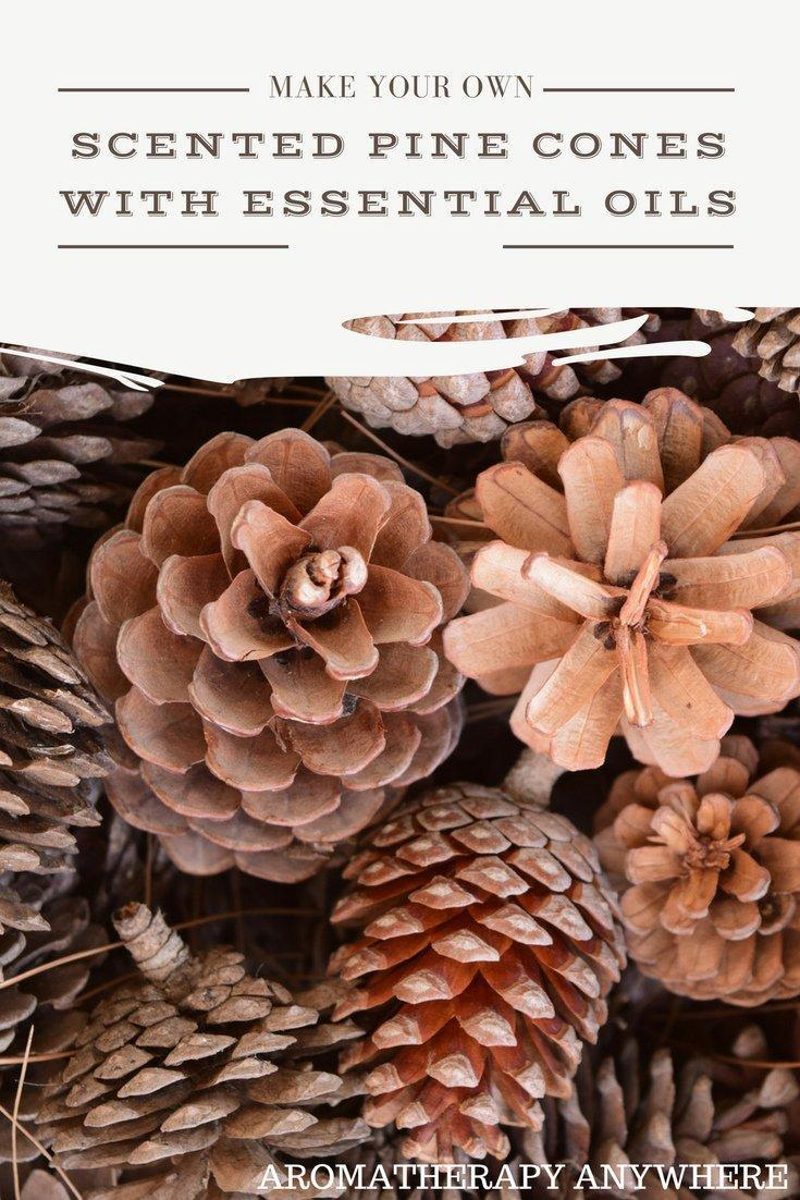 DIY Scented Pine Cones with Essential Oils