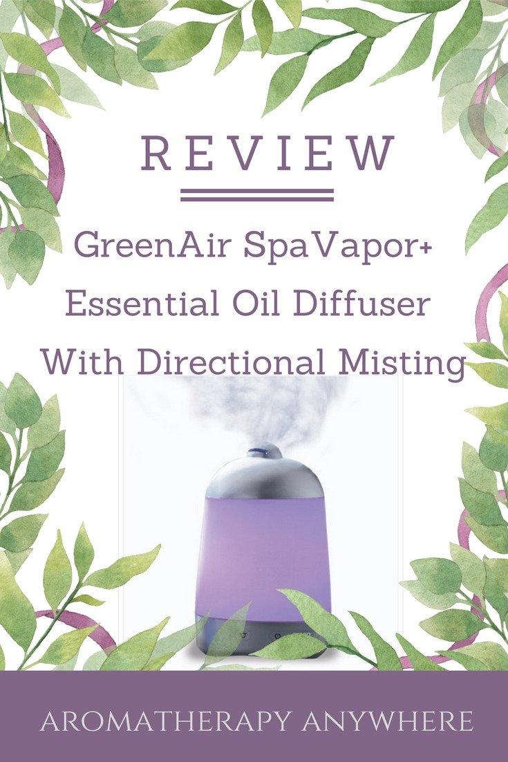 GreenAir SpaVapor+ Essential Oil Diffuser Humidifier with directional misting