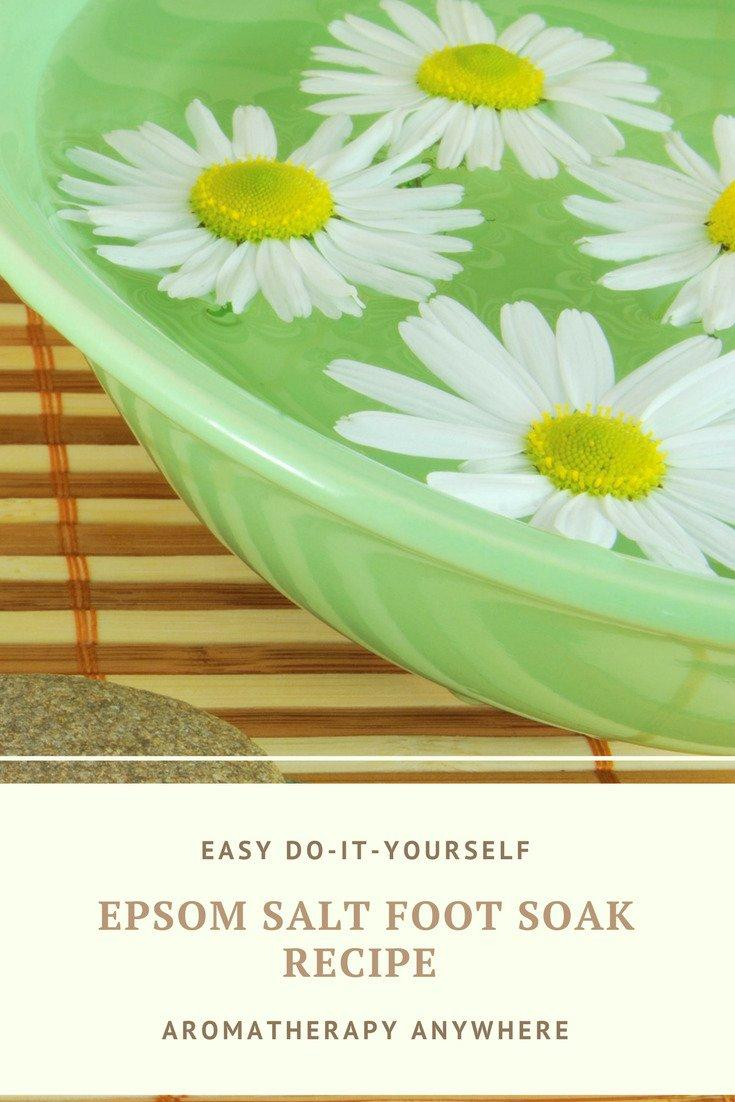 epsom salt foot soak recipe to soothe tired feet aromatherapy anywhere. Black Bedroom Furniture Sets. Home Design Ideas