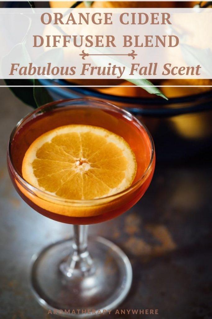 glass with orange cider
