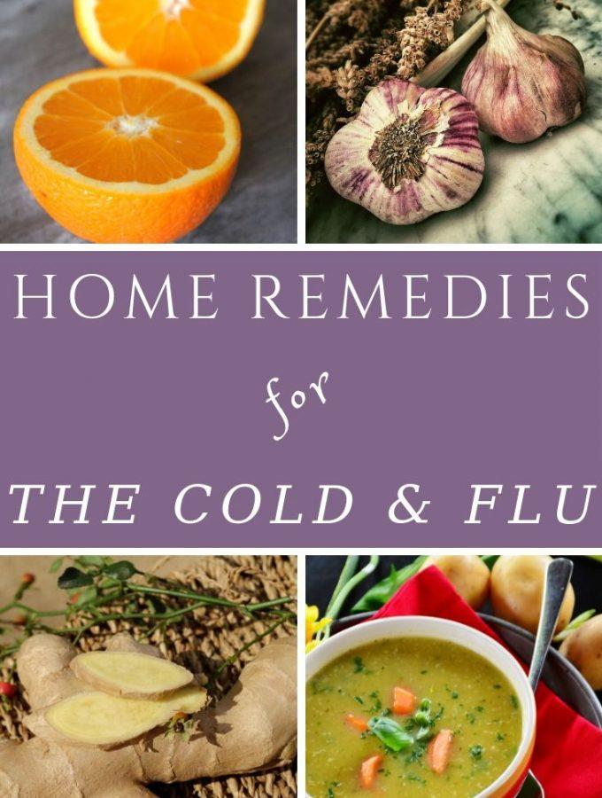 soup, ginger, garlic and oranges as home remedies for the cold & flu