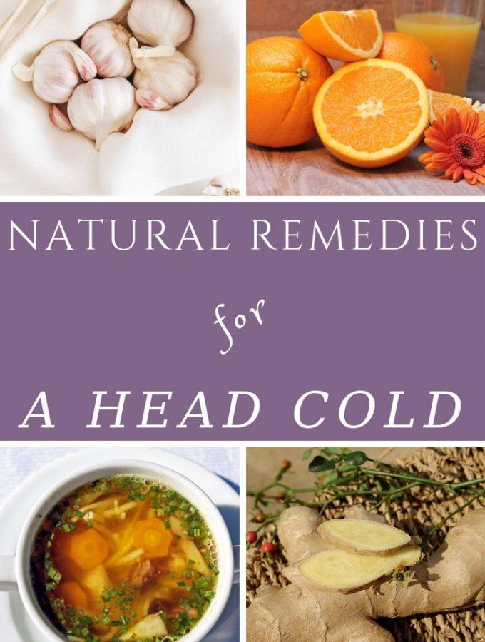 Garlic, ginger, oranges & a bowl of soup as natural remedies for a head cold
