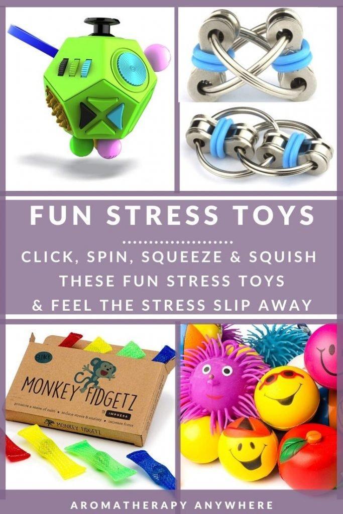 assortment of stress toys