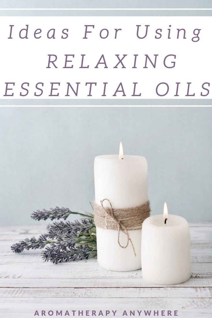 White Candles with Relaxing Essential Oils