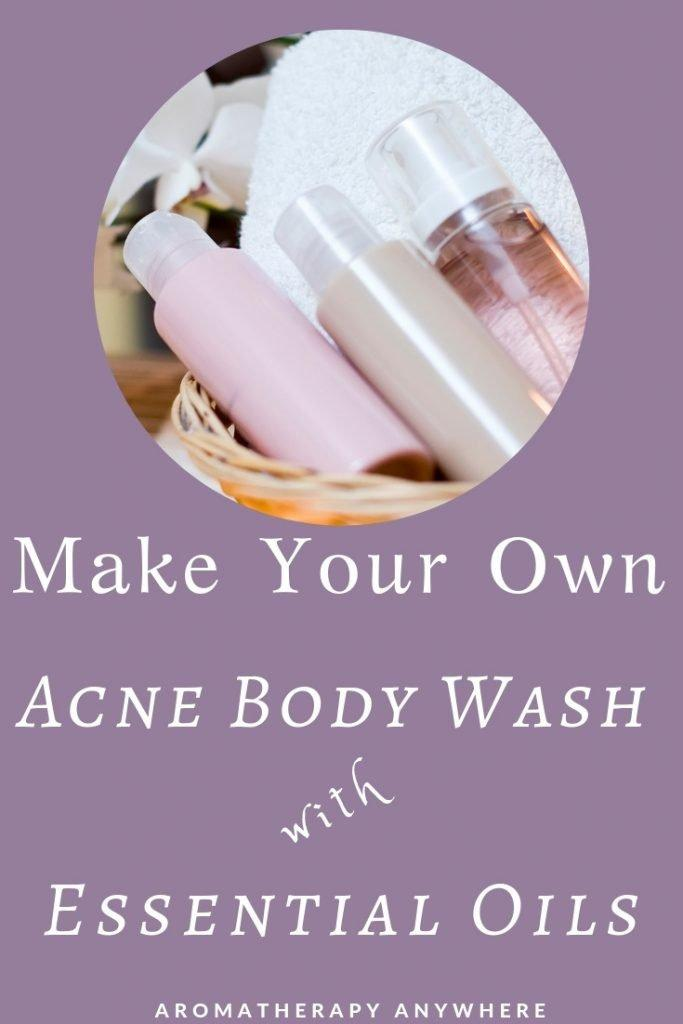 Bottle with Homemade Acne Body Wash