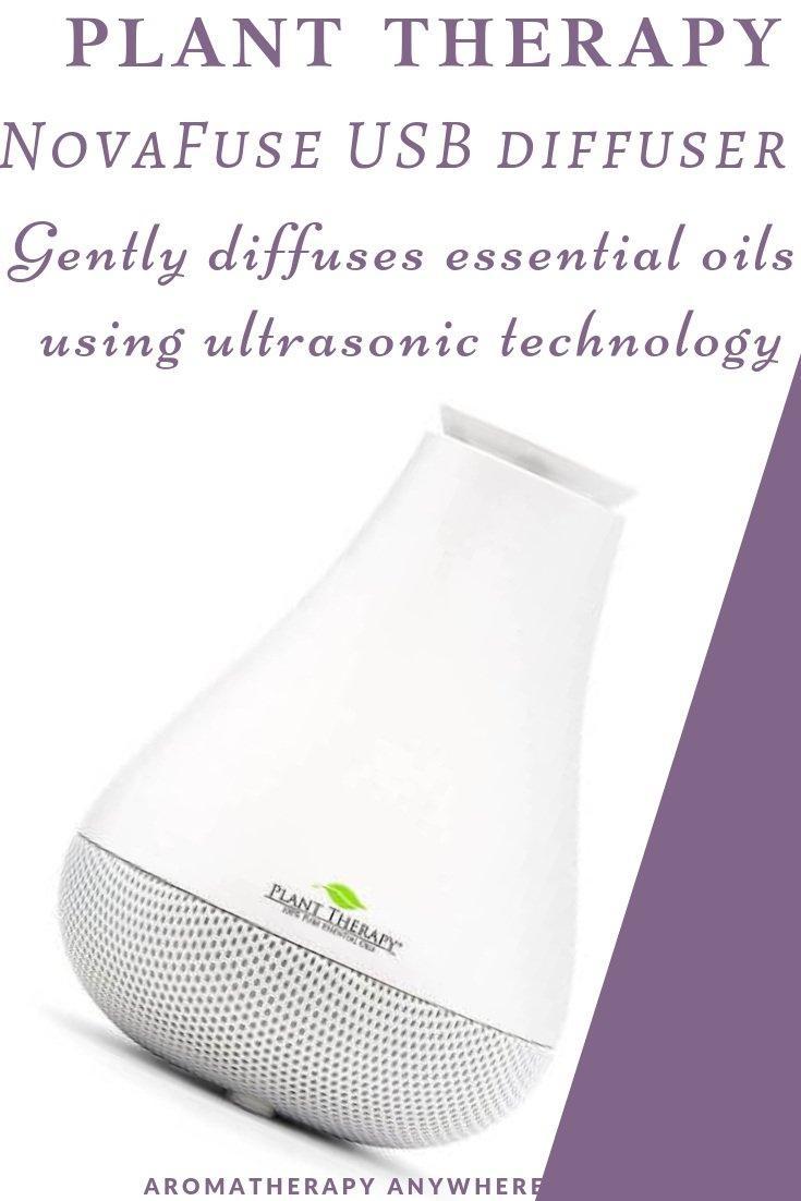 Plant Therapy NovaFuse USB Essential Oil Diffuser White