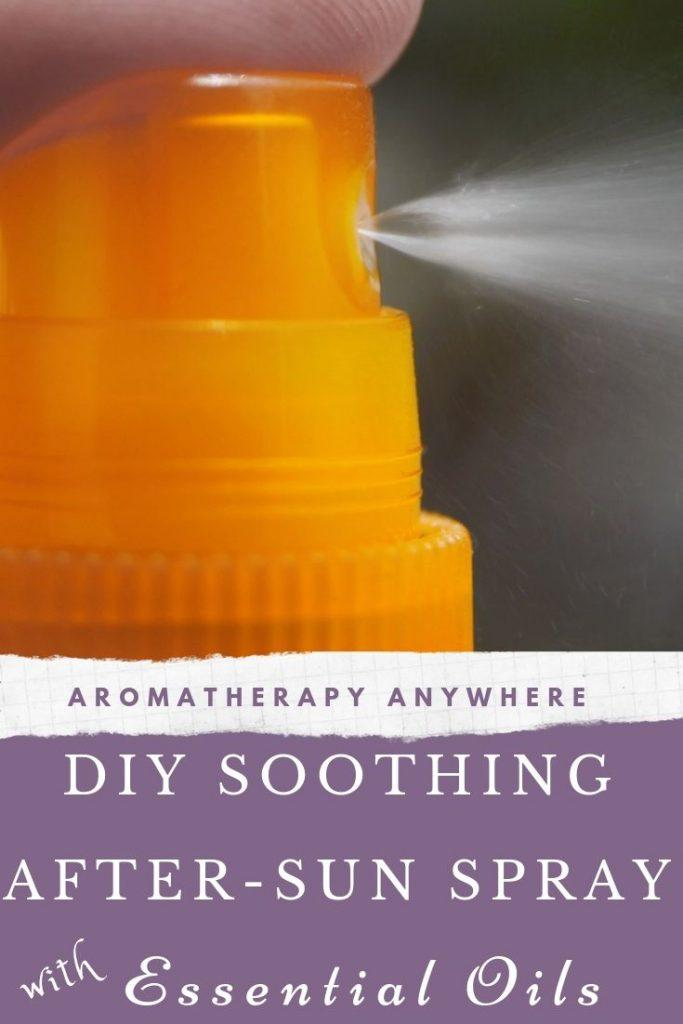 DIY Soothing After Sun Spray with Essential Oils