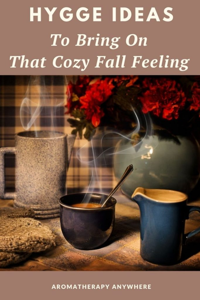 mugs of warm cocoa in fall colors