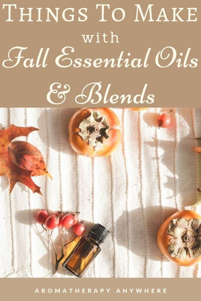 essential oil bottle and fall fruit