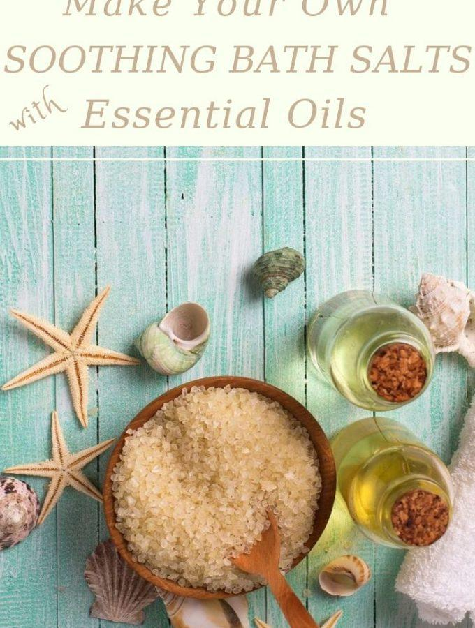 Bath salts and essential oils