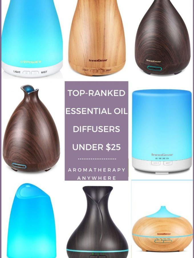 assorted essential oil diffusers