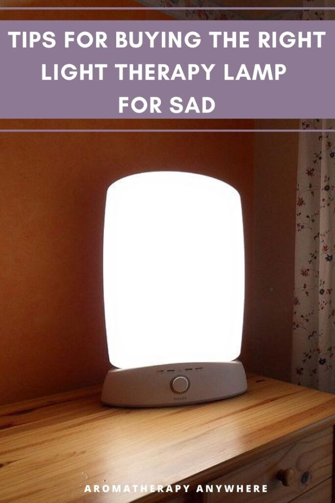 light therapy lamp on table