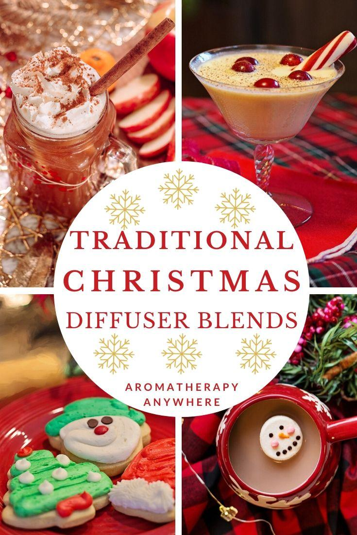 Christmas collage with Christmas cookies, cider, eggnog and marshmallow