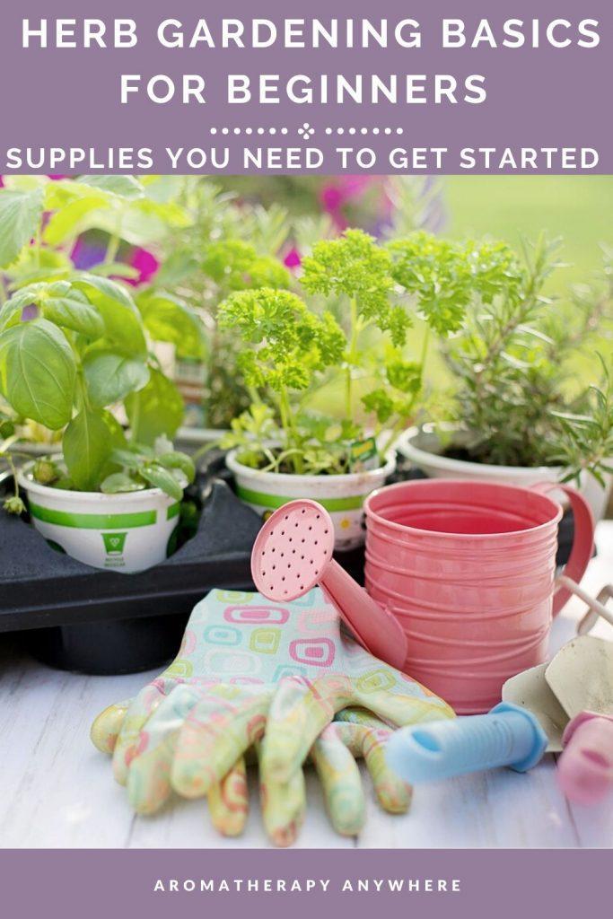 herb gardening supplies