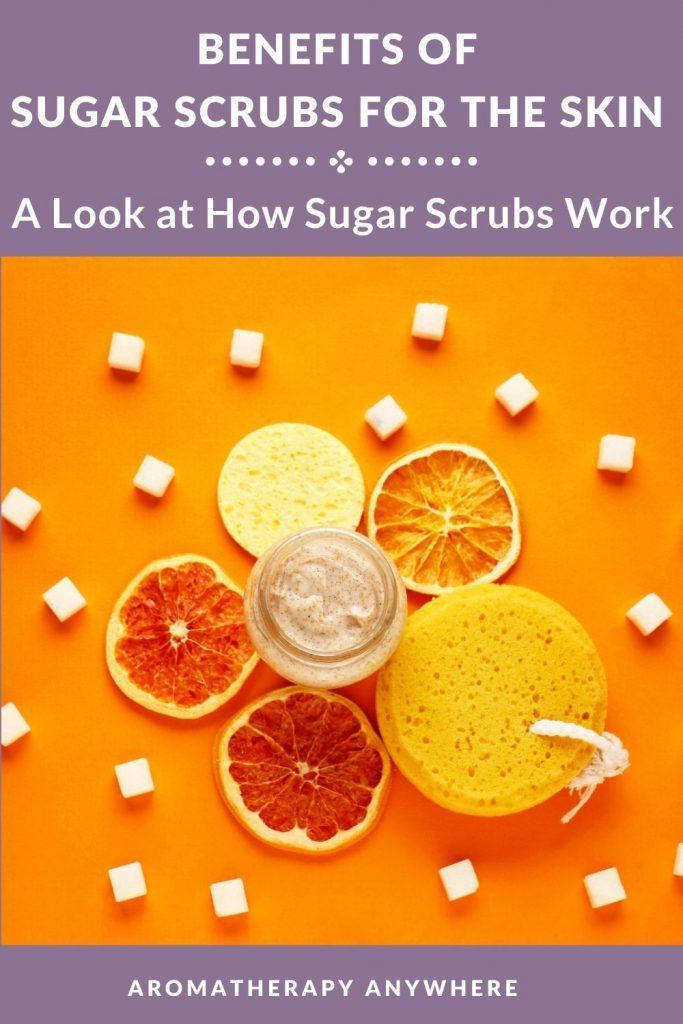 sugar scrub with lemon slices