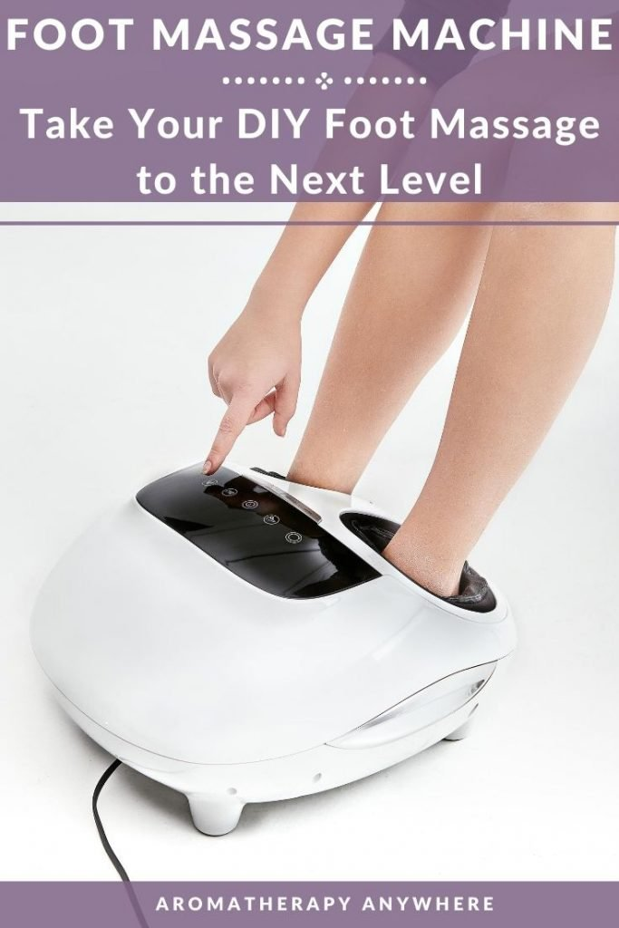 lady using a foot massager