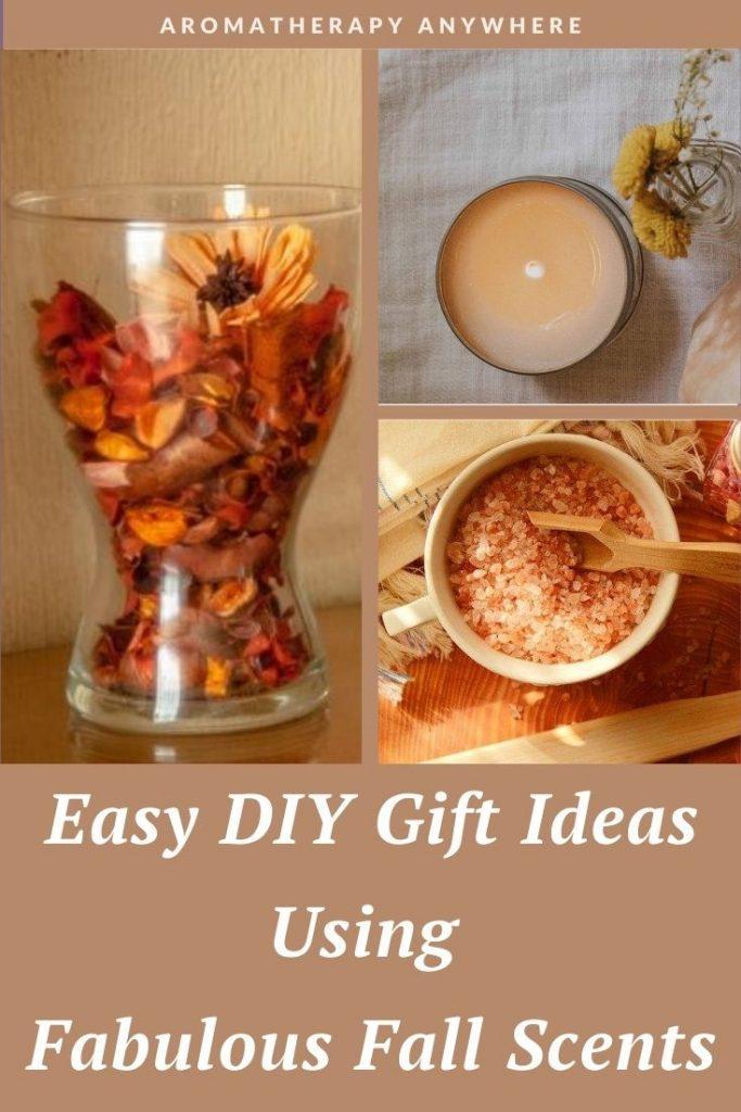 fall potpourri, candle and bath salts