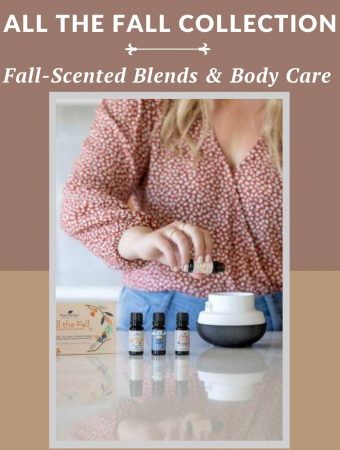 lady putting essential oil into a diffuser