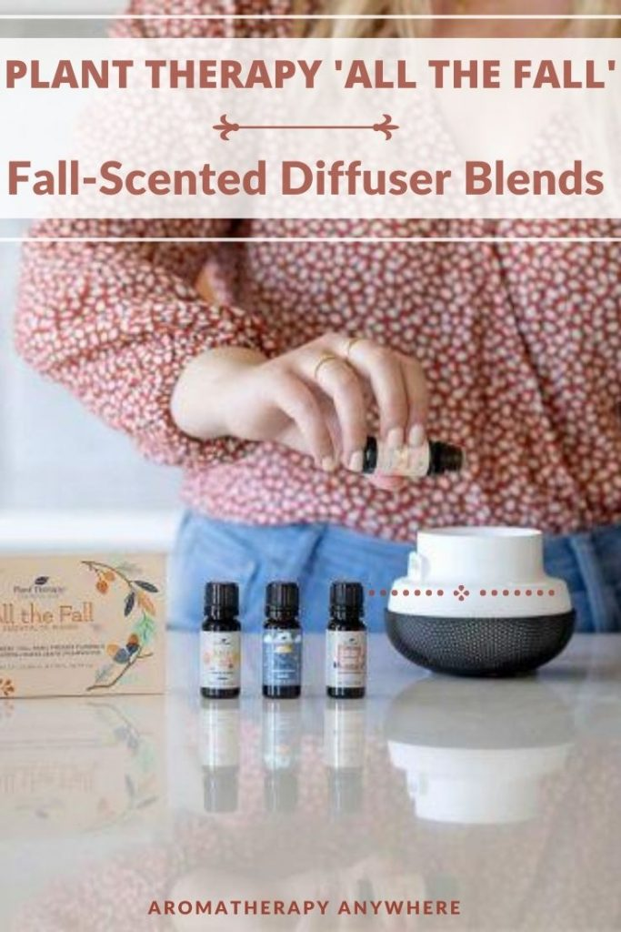 lady pouring essential oil into diffuser