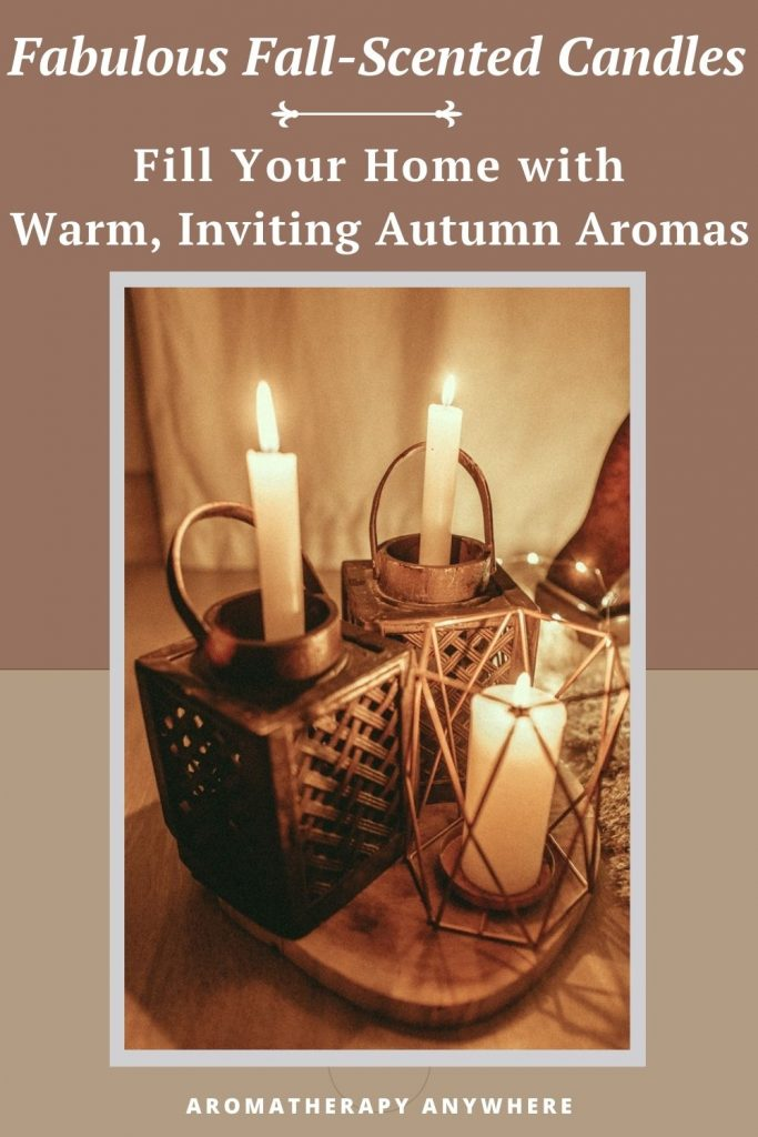 trio of fall candles